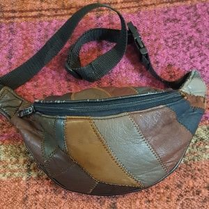 Handbags - Vintage Patchwork Leather Fanny Pack